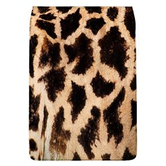 Yellow And Brown Spots On Giraffe Skin Texture Flap Covers (l)
