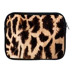 Yellow And Brown Spots On Giraffe Skin Texture Apple Ipad 2/3/4 Zipper Cases