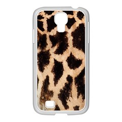 Yellow And Brown Spots On Giraffe Skin Texture Samsung Galaxy S4 I9500/ I9505 Case (white)
