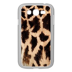 Yellow And Brown Spots On Giraffe Skin Texture Samsung Galaxy Grand Duos I9082 Case (white)