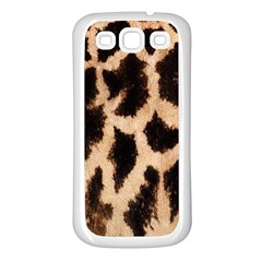 Yellow And Brown Spots On Giraffe Skin Texture Samsung Galaxy S3 Back Case (white)