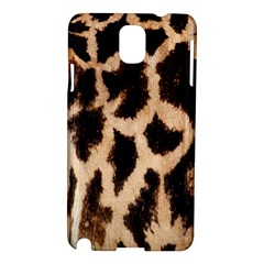 Yellow And Brown Spots On Giraffe Skin Texture Samsung Galaxy Note 3 N9005 Hardshell Case