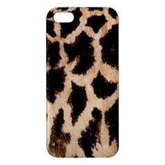 Yellow And Brown Spots On Giraffe Skin Texture Iphone 5s/ Se Premium Hardshell Case