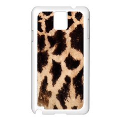Yellow And Brown Spots On Giraffe Skin Texture Samsung Galaxy Note 3 N9005 Case (White)