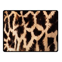 Yellow And Brown Spots On Giraffe Skin Texture Double Sided Fleece Blanket (Small)