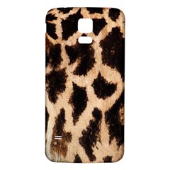 Yellow And Brown Spots On Giraffe Skin Texture Samsung Galaxy S5 Back Case (white)
