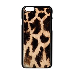 Yellow And Brown Spots On Giraffe Skin Texture Apple Iphone 6/6s Black Enamel Case