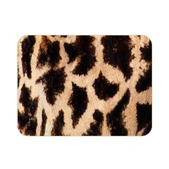 Yellow And Brown Spots On Giraffe Skin Texture Double Sided Flano Blanket (mini)