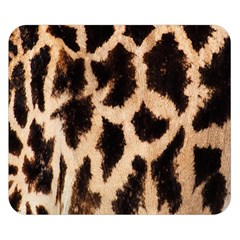 Yellow And Brown Spots On Giraffe Skin Texture Double Sided Flano Blanket (small)