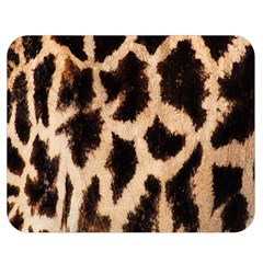 Yellow And Brown Spots On Giraffe Skin Texture Double Sided Flano Blanket (medium)