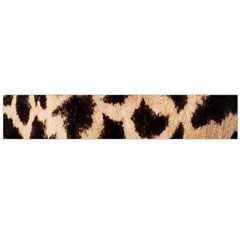 Yellow And Brown Spots On Giraffe Skin Texture Flano Scarf (Large)