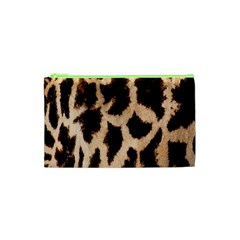 Yellow And Brown Spots On Giraffe Skin Texture Cosmetic Bag (xs)