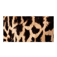 Yellow And Brown Spots On Giraffe Skin Texture Satin Wrap
