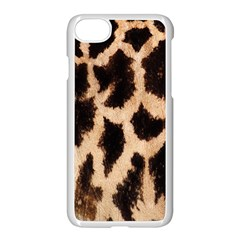 Yellow And Brown Spots On Giraffe Skin Texture Apple Iphone 7 Seamless Case (white)