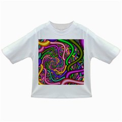 Fractal Background With Tangled Color Hoses Infant/toddler T Shirts