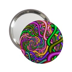 Fractal Background With Tangled Color Hoses 2 25  Handbag Mirrors