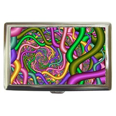 Fractal Background With Tangled Color Hoses Cigarette Money Cases