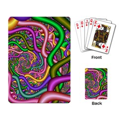 Fractal Background With Tangled Color Hoses Playing Card