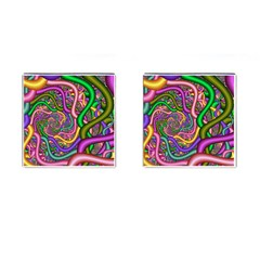 Fractal Background With Tangled Color Hoses Cufflinks (square)