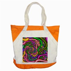 Fractal Background With Tangled Color Hoses Accent Tote Bag