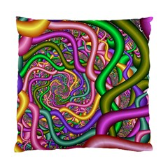 Fractal Background With Tangled Color Hoses Standard Cushion Case (one Side)