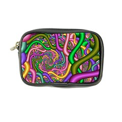 Fractal Background With Tangled Color Hoses Coin Purse