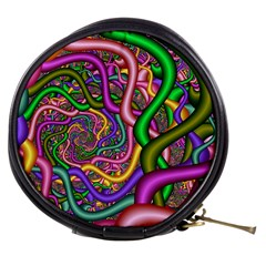 Fractal Background With Tangled Color Hoses Mini Makeup Bags