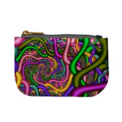 Fractal Background With Tangled Color Hoses Mini Coin Purses
