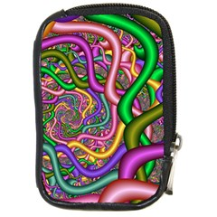 Fractal Background With Tangled Color Hoses Compact Camera Cases