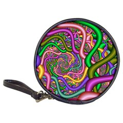 Fractal Background With Tangled Color Hoses Classic 20 Cd Wallets