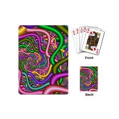 Fractal Background With Tangled Color Hoses Playing Cards (Mini)