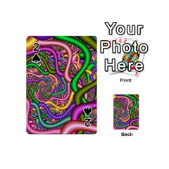 Fractal Background With Tangled Color Hoses Playing Cards 54 (mini)