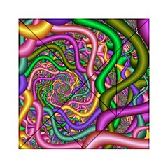 Fractal Background With Tangled Color Hoses Acrylic Tangram Puzzle (6  X 6 )