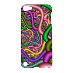 Fractal Background With Tangled Color Hoses Apple Ipod Touch 5 Hardshell Case
