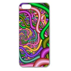 Fractal Background With Tangled Color Hoses Apple Seamless Iphone 5 Case (clear)