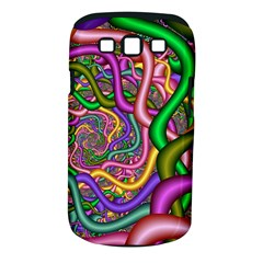 Fractal Background With Tangled Color Hoses Samsung Galaxy S III Classic Hardshell Case (PC+Silicone)