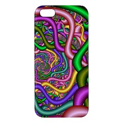 Fractal Background With Tangled Color Hoses Apple Iphone 5 Premium Hardshell Case