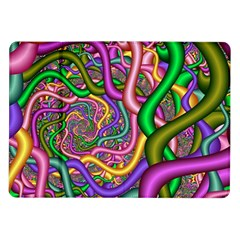 Fractal Background With Tangled Color Hoses Samsung Galaxy Tab 10.1  P7500 Flip Case