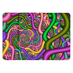 Fractal Background With Tangled Color Hoses Samsung Galaxy Tab 8 9  P7300 Flip Case