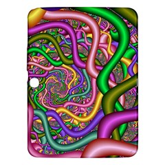 Fractal Background With Tangled Color Hoses Samsung Galaxy Tab 3 (10 1 ) P5200 Hardshell Case