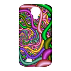 Fractal Background With Tangled Color Hoses Samsung Galaxy S4 Classic Hardshell Case (pc+silicone)