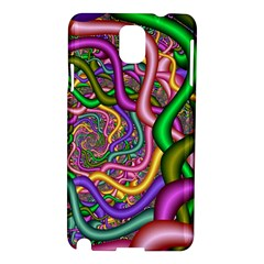 Fractal Background With Tangled Color Hoses Samsung Galaxy Note 3 N9005 Hardshell Case