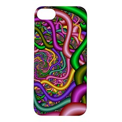 Fractal Background With Tangled Color Hoses Apple iPhone 5S/ SE Hardshell Case