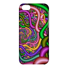 Fractal Background With Tangled Color Hoses Apple Iphone 5c Hardshell Case