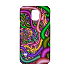 Fractal Background With Tangled Color Hoses Samsung Galaxy S5 Hardshell Case
