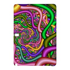 Fractal Background With Tangled Color Hoses Samsung Galaxy Tab Pro 10 1 Hardshell Case