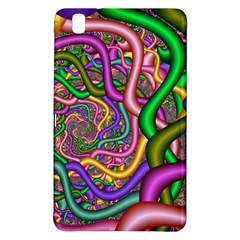 Fractal Background With Tangled Color Hoses Samsung Galaxy Tab Pro 8 4 Hardshell Case