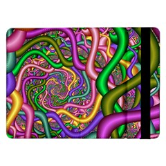 Fractal Background With Tangled Color Hoses Samsung Galaxy Tab Pro 12.2  Flip Case