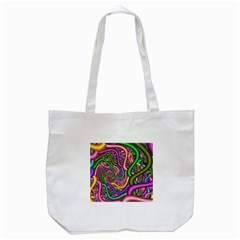 Fractal Background With Tangled Color Hoses Tote Bag (white)