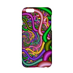 Fractal Background With Tangled Color Hoses Apple Iphone 6/6s Hardshell Case
